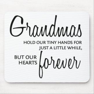 Grandmas Forever black Mouse Mat