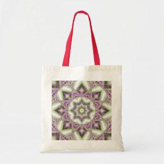 Grandma's Fractal Quilt handbag Budget Tote Bag