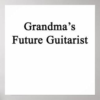 Grandma's Future Guitarist Poster