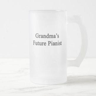 Grandma's Future Pianist Frosted Glass Mug