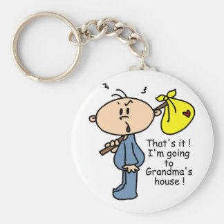 Grandma's House Baby (BLUE) Basic Round Button Key Ring