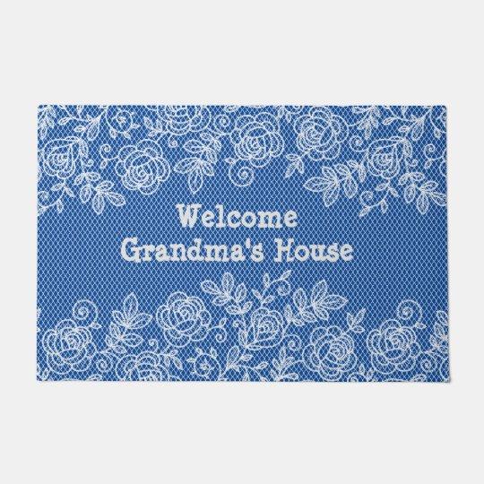 Grandma's House Lace Personalise Doormat
