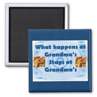 Grandma's House Square Magnet