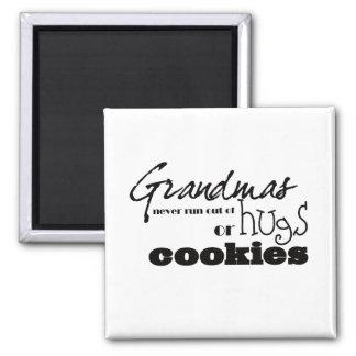 Grandmas hugs or cookies magnet