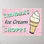 Grandma's Icecream Posters