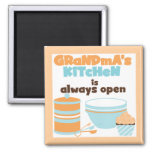 Grandma's Kitchen Always Open T-shirts and Gifts Refrigerator Magnet