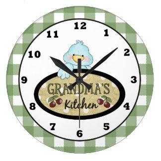 Grandma's Kitchen Bird wall clock