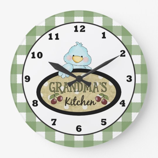 Grandma's Kitchen Bird wall clock