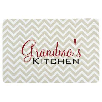 Grandma's Kitchen Chevron Stripes Pattern Floor Mat