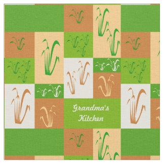 Grandma's Kitchen Fall Grass Fabric