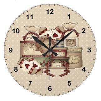 Grandmas Kitchen Large Clock