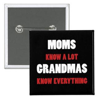 Grandmas Know Everything 15 Cm Square Badge