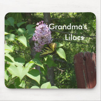 Grandma's Lilac Bush Mouse Pad