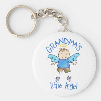 GRANDMAS LITTLE ANGEL BASIC ROUND BUTTON KEY RING