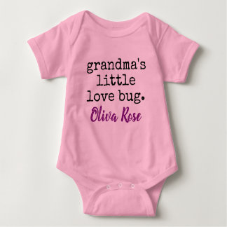 grandma's little love bug personalized baby bodysuit