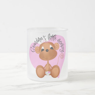 Grandma's Little Monkey Tshirts and Gifts Frosted Glass Mug