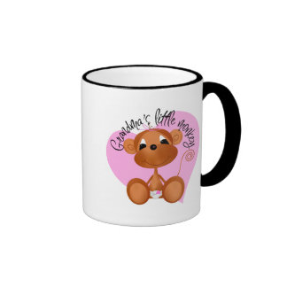 Grandma's Little Monkey Tshirts and Gifts Ringer Mug