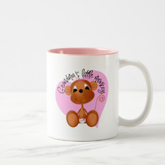 Grandma's Little Monkey Tshirts and Gifts Two-Tone Mug