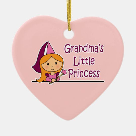 Grandma's Little Princess Christmas Ornament
