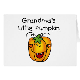 Grandma's Little Pumpkin T-shirts and gifts Card