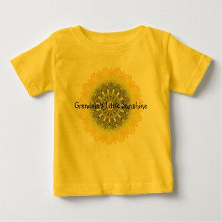 Grandma's Little Sunshine with Sunflower Design Baby T-Shirt