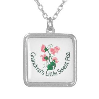 Grandma's Little Sweet Pea Square Pendant Necklace