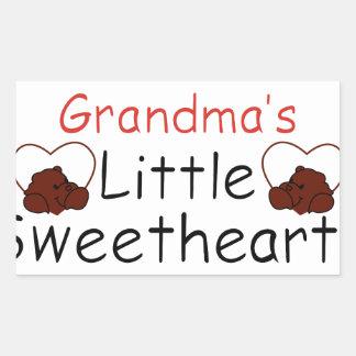 Grandma's Little Sweethearts Rectangular Sticker
