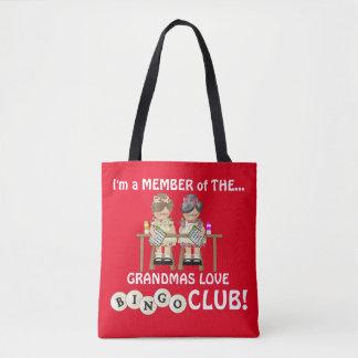 Grandmas love Bingo Club tote bag