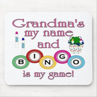 Grandmas my name Bingo is my game Mouse Mat