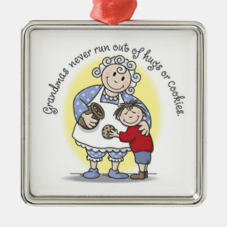 Grandma's Never Run Out of Hugs or Cookies Christmas Ornament