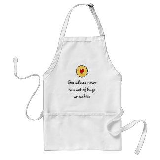 Grandmas never run out of hugs or cookies standard apron