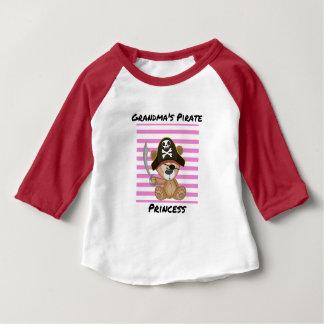 Grandma's Pirate Princess Baby 3/4 Sleeve Baby T-Shirt