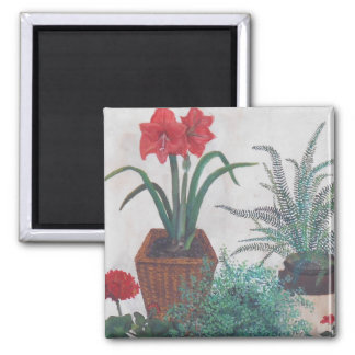 Grandma's Plants Square Magnet