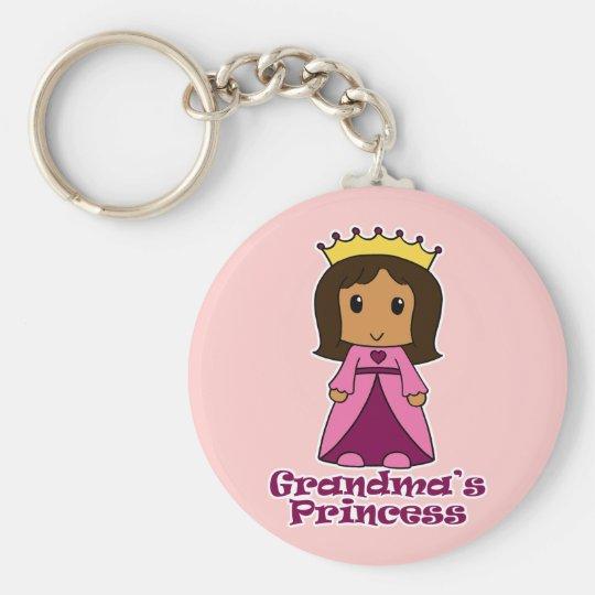 Grandma's Princess Basic Round Button Key Ring