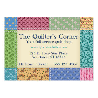 Grandma's Quilt Border Custom Pack Of Chubby Business Cards