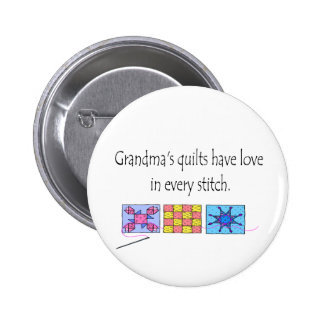 Grandma's Quilts T-shirts and Gifts. 6 Cm Round Badge