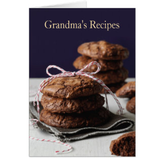 Grandma's Recipes Card