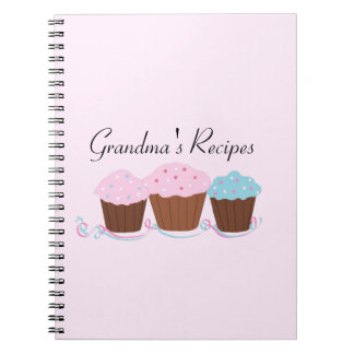 Grandma's Recipes - Frosted Cupcakes Notebook