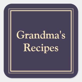 Grandma's Recipes Square Sticker