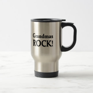 Grandmas ROCK! Stainless Steel Travel Mug