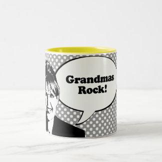 Grandmas Rock Two-Tone Mug