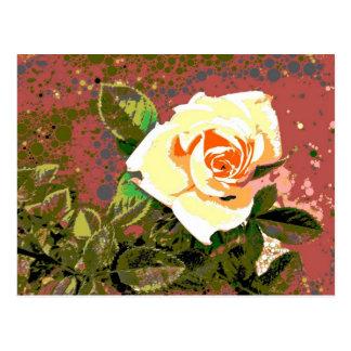 Grandma's Rose Postcard