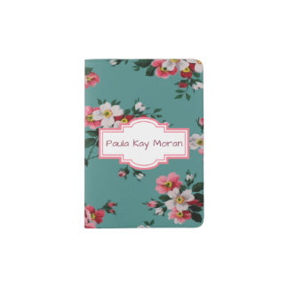 Grandma's Roses Passport Holder