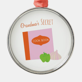 Grandmas Secret Silver-Colored Round Decoration