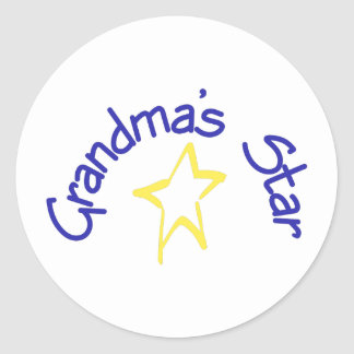Grandma's Star Classic Round Sticker