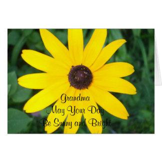 Grandma's Sunny Birthday Black Eyed Susan Greeting Card