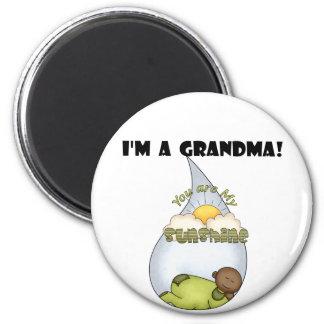 Grandma's Sunshine-African American Boy Refrigerator Magnet