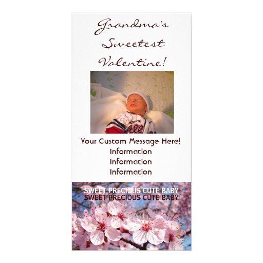 Grandma's Sweetest Valentine! Photo Cards Custom