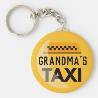 Grandma's Taxi Keychain