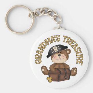 Grandma's Treasure Basic Round Button Key Ring